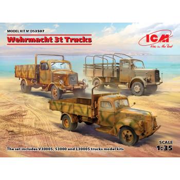 3-т грузовые автомобили Вермахта (V3000S, KHD S3000, L3000S) сборная модель