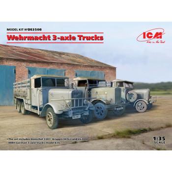 3-осные грузовые автомобили (Henschel 33D1, Krupp L3H163, LG3000) сборная модель