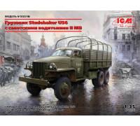 Studebaker US6 с советскими водителями II МВ