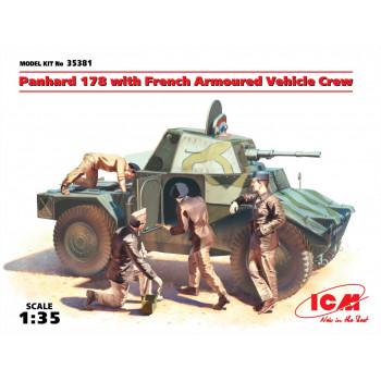 Panhard 178 с французским экипажем бронеавтомобиля сборная модель