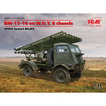 БМ-13-16 на шасси W.O.T. 8, Советская РСЗО II МВ сборная модель
