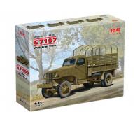 35593 ICM G7107, Армейский грузовой автомобиль IIМВ, 1/35