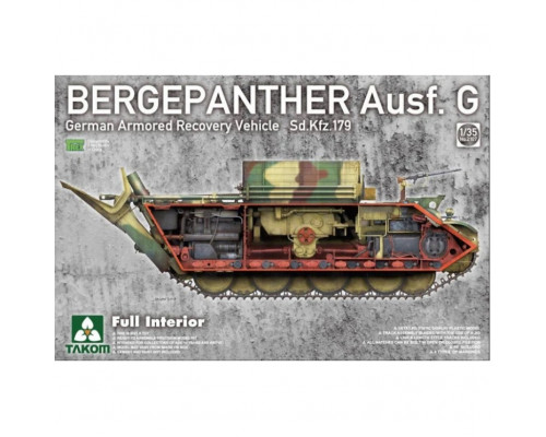2107 1/35 Bergepanther Ausf.G German Armored Recovery Vehicle Sd.Kfz.179 w/full interior kit