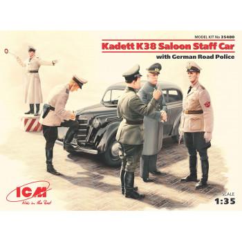 Kadett K38 седан, с Германской дорожной полицией сборная модель
