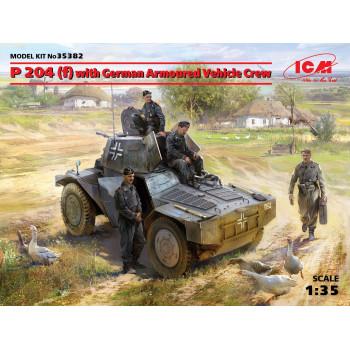 P 204 (f) с германским экипажем бронеавтомобиля сборная модель