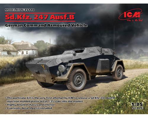 35110 ICM Sd.Kfz. 247 Ausf.B, Германский бронеавтомобиль управления, 1/35