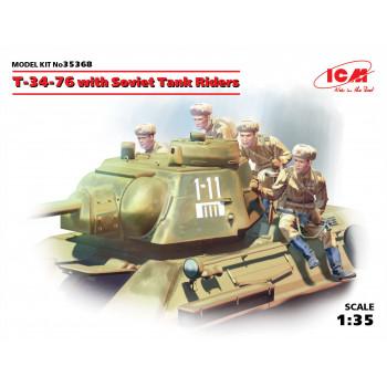 Т-34-76 с советским танковым десантом сборная модель