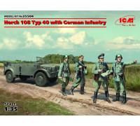 Horch 108 Typ 40 с германской пехотой