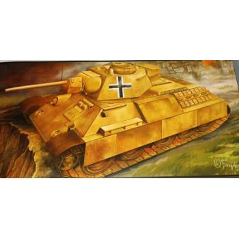 Т-34-76 захваченный немецкий танк