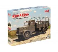 35454 ICM KHD A3000, Германский армейский грузовой автомобиль ІІ МВ, 1/35