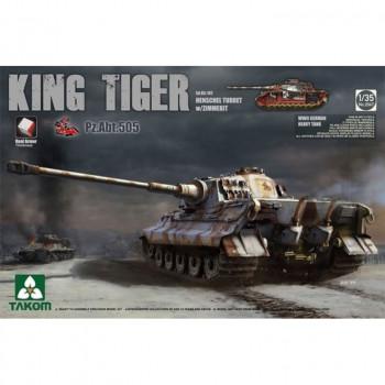 2047S 1/35 Sd.Kfz.182 King Tiger Henschel Turret w/Zimmerit Pz.Abt.505