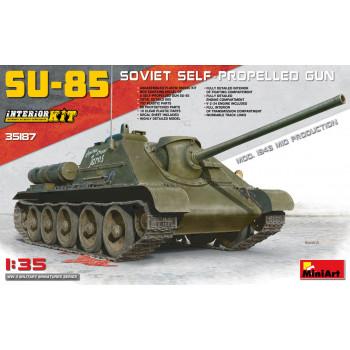 СУ-85 модификация 1943 с полным интерьером