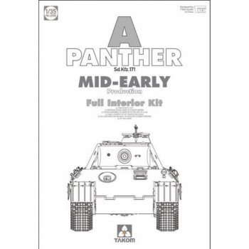 2098 1/35 WWII German medium Tank Sd.Kfz.171 Panther A mid-early production, , шт