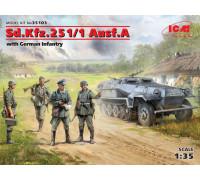 Sd.Kfz.251/1 Ausf. с германской пехотой