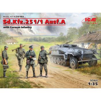 Sd.Kfz.251/1 Ausf. с германской пехотой сборная модель