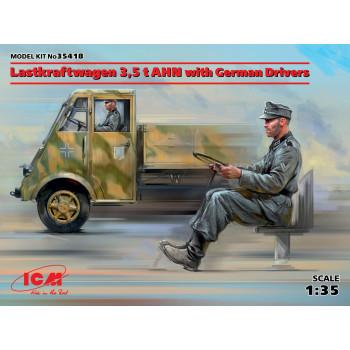 Lastkraftwagen 3,5 t AHN с германскими водителями сборная модель