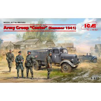 Группа армий «Центр» лето 1941 г. (Kfz.1, Typ L3000S, германская пехота (4 фигуры), германские водители (4 фигуры)) сборная модель