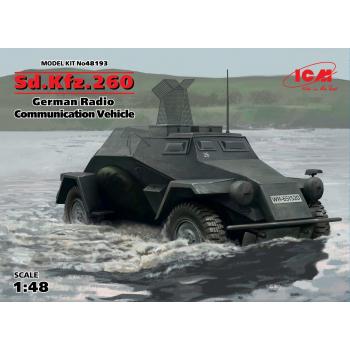Sd.Kfz.260, Германский бронеавтомобиль радиосвязи ІІ МВ в1 сборная модель