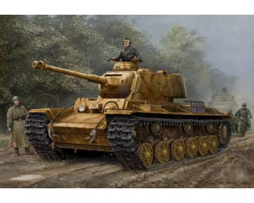 84818 Танк PZ.Kpfw KV-1 (756r) (трофейный КВ-1) (1:48, Hobby Boss)