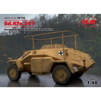 Sd.Kfz.261, Германский бронеавтомобиль радиосвязи ІІ МВ сборная модель