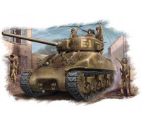 84801 Американский танк M4A1 (76W) Sherman (1:48, Hobby Boss)