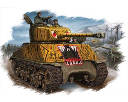 84804 Американский танк M4A3E8 Sherman (1:48, Hobby Boss)