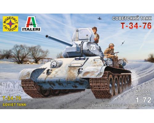 307201 Советский танк Т-34-76, (1:72)
