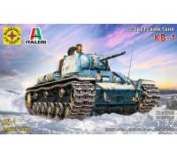 Советский танк КВ-1 (1:72)