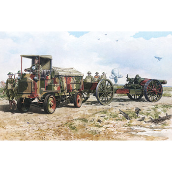Rod713 Бронеавтомобиль FWD Model B 3 ton & BL 8-inch howitzer Mk.VI