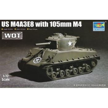 07168 Американский танк M4A3E8 (1:72,Trumpeter) от Trumpeter