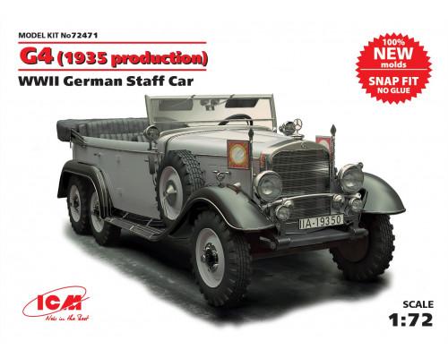 Германский автомобиль G4 (производства 1935 г.), ІІ МВ (сборка без клея)