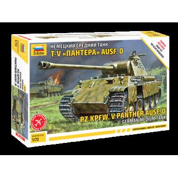 """zv5010 Немецкий танк Т-V """"Пантера"""" (без клея)"""