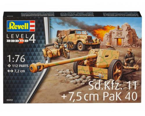 3-тонный буксирный трактор, противотанковая пушка Pak 40 и мотоцикл R75