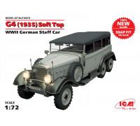 G4 (1935 г.) с тентом, Германский автомобиль ІІ МВ (сборка без клея)