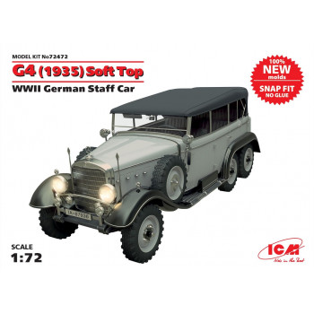 G4 (1935 г.) с тентом, Германский автомобиль ІІ МВ (сборка без клея) сборная модель