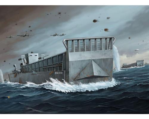 07213 Судно для перевозки танков WW II LCM 3 USN Landing Craft (1:72, Trumpeter)
