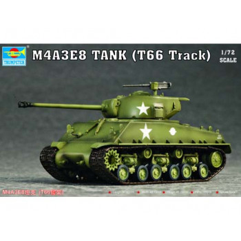 07225 Танк M4A3E8(T66 Track) (1:72, Trumpeter) от Trumpeter