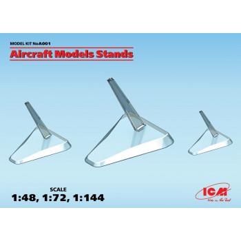 Подставки для моделей самолетов (М 1:48, 1:72, 1:144) сборная модель