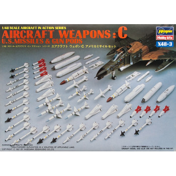 H36003 Hasegawa Боеприпасы U.S. Aircraft weapons C (1:48)