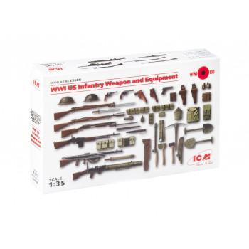 35688 ICM Оружие и снаряжение пехоты США 1 МВ, 1/35