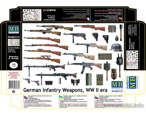 Фигуры Немецкая Пехота. Оружие, Вторая Мировая Война