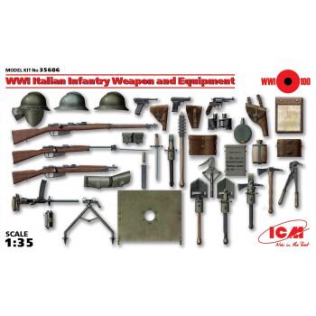 Оружие и снаряжение пехоты Италии 1 МВ сборная модель
