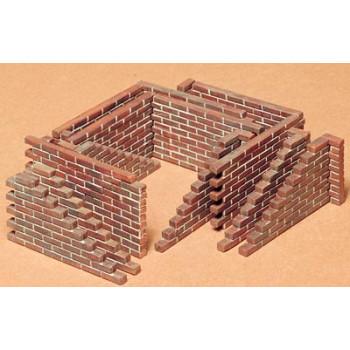 Набор фрагментов кирп.стен 4 вида для диорам сборная модель