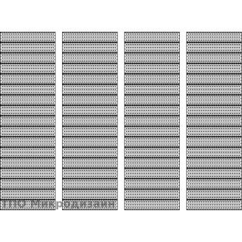 Аэродромное покрытие К1Д (33 плиты в наборе)