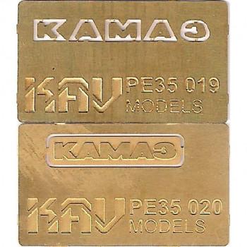 KAV PE35 021 Набор буквы и табличка на решетку радиатора для ICM 35001 KAV models