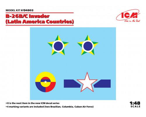 Декаль B-26B/C Invader (страны Латинской Америки)