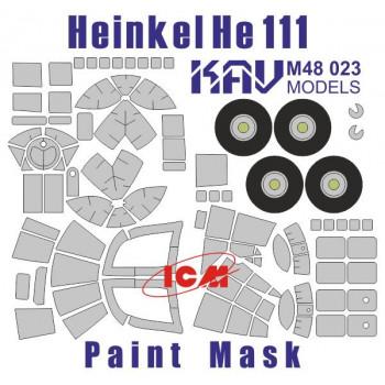 KAV M48 023 Окрасочная маска на остекление He-111 (ICM 48261) KAV models