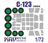 Окрасочная маска на остекление для C-123 (Roden 056, 058, 062)