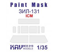 Окрасочная маска на остекление ЗиЛ-131 Основная (ICM 35515, 35516, 35517, 35518, 35520, 35524)