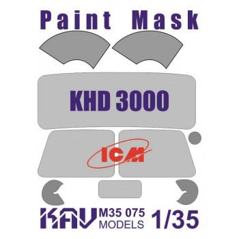 KAV M35 075 Окрасочная маска на остекление KHD-S/A3000 (35451, 35452, 35453, 35454) KAV models